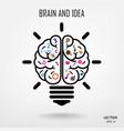 Creative brain Idea concept background vector image