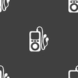 MP3 player headphones music icon sign Seamless vector image