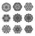 Decorative Mandalas Set vector image