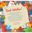 Christmas greeting or invitation cards and banners vector image vector image