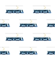 seamless pattern of blue modern tram vector image
