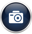 Blue photo icon vector image