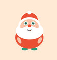 cute and happy modern smiling santa clause art vector image