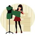 Dressmaker vector image
