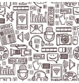 Media sketch seamless pattern vector image