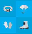 set of simple equipment icons vector image