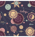 seamless pattern galaxy vector image