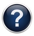Blue problem icon vector image vector image