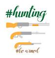flat of hunter stuff gun vector image
