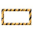 construction warning border vector image