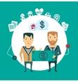 insurance agent reimburses loss of money vector image