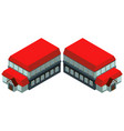 3d design for building with red roof vector image