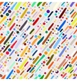 Pattern with hand drawn colourful stripes vector image