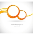 Background with orange circles vector image
