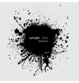 Black ink splash with text vector image