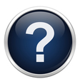 Blue problem icon vector image