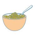 breakfast cereal food vector image