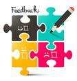 Feedback Feedback Puzzle with Pencil vector image