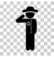 gentleman officer icon vector image