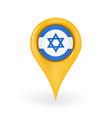 Location Israel vector image