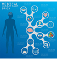 Medical and healthcare infographic Brain vector image