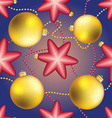New Year pattern with Christmas ball Sparkles and vector image