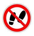 Sign do not stay 1804 vector image