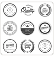 Set of vintage monochrome retail labels and badges vector image vector image