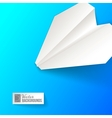 Paper airplane origami vector image vector image