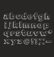 hand drawn alphabet lowercase vector image