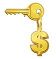 Key to money vector image vector image