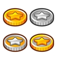 Star coins 2 vector image vector image