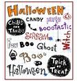 Halloween inscriptions vector image