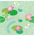 lotus flower background vector image