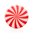 striped sugar candy vector image vector image