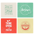 Spring Typography Background Set in Vintage Style vector image