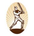 vintage cricket background vector image
