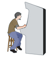 arcade game player vector image