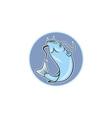 Catfish Jumping Circle Cartoon vector image