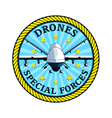 Drones special forces vector image