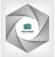 Photo studio logo design template vector image