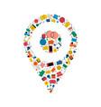 social media gps location pin concept icon design vector image