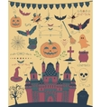 Colorful Hand Sketched Doodle Halloween vector image