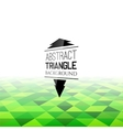 Abstract green triangle field perspetive pattern vector image vector image