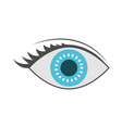 eye icon with iris in blue color vector image