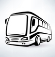 modern bus symbol outlined icon vector image