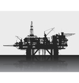 Sea oil rig Oil platform in the deep sea Detailed vector image
