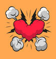 Heart shape boom clouds vector image vector image