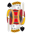 King of spades no card vector image vector image