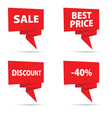 sale tag in red color vector image vector image
